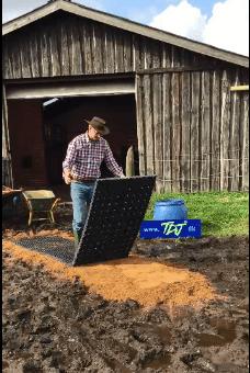 TDJhors, TDJ Heavymat, vandrefold, undgå mudder, muddermåtter,
