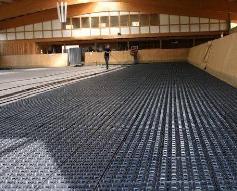 HIT Armering sikrer et skridsikkert underlag - også direkte på beton.