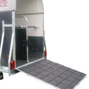 Rampemåtte til trailer, gummimåtte, opbygning af trailer,